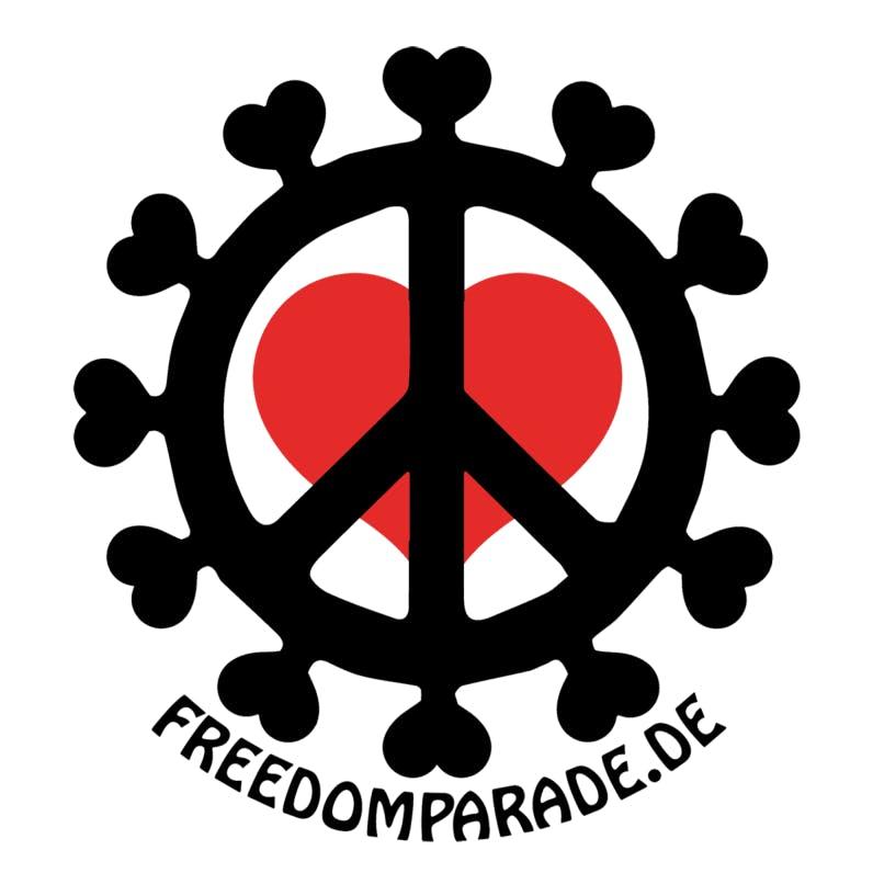 Aufkleber: 50 Stück - 10x10cm - Freedom Parade.de (rund) (Captain Future)