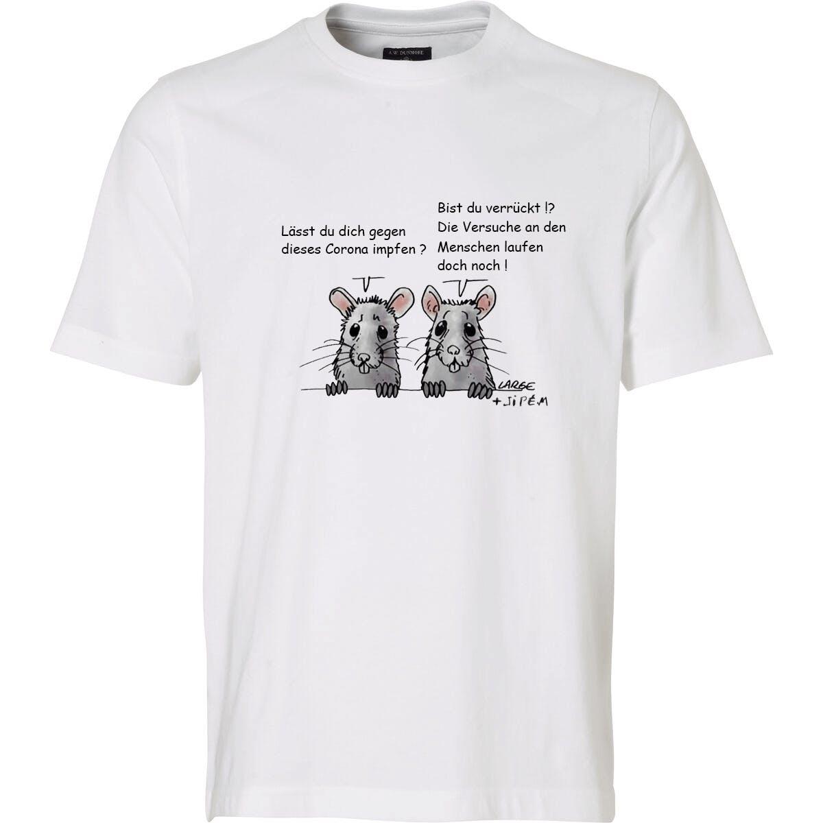 T-Shirt: Labor-Ratten über Menschenversuche