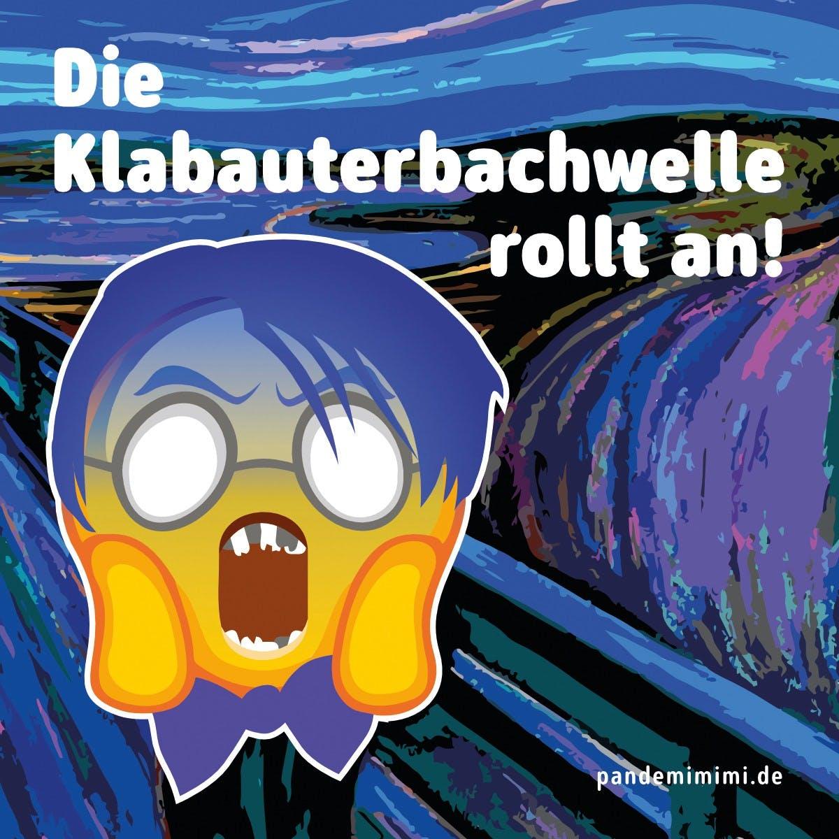 Aufkleber: 100 Stück - 10x10cm - Klabauterbach (Pandemimimi)