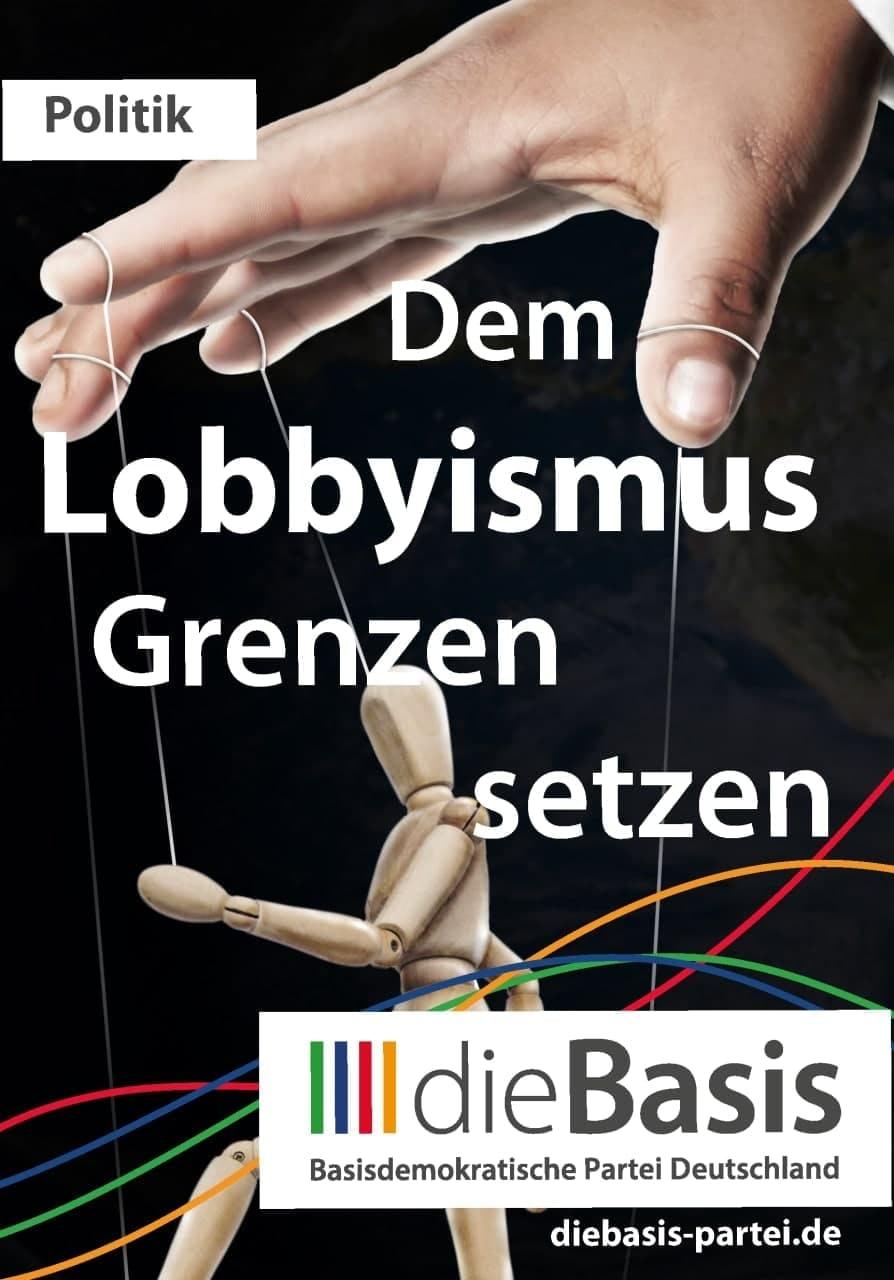 Aufkleber: 140 Stück DIN A7 - Die Basis: Dem Lobbyismus Grenzen setzen
