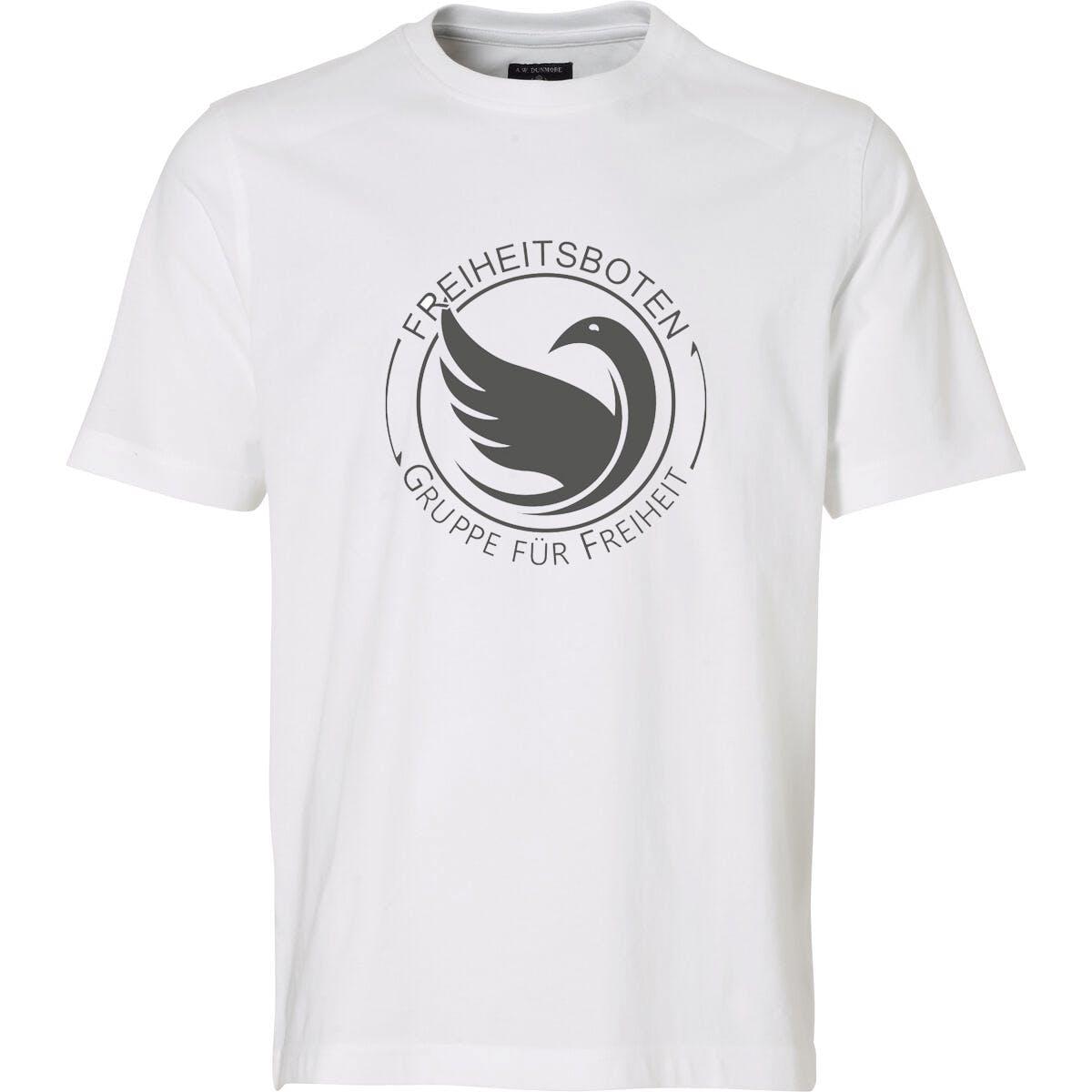 T-Shirt: Freiheitsboten - Gruppe für Freiheit (weiß)